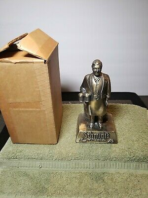 "Vintage 8"" Schmidt's beer Man bar metal statue figure Advertising Philadelphia"