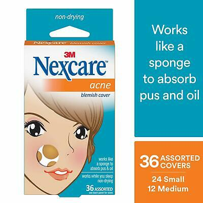 3M AC-036 Nexcare Acne Blemish Cover Assorted (Box of 36)
