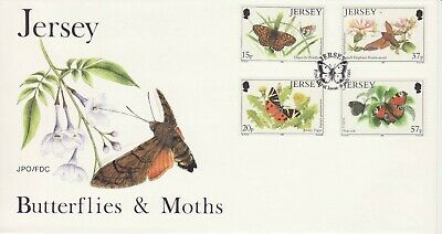 GB Stamps First Day Cover Jersey Butterflies and Moths, insects,flowers etc 1991