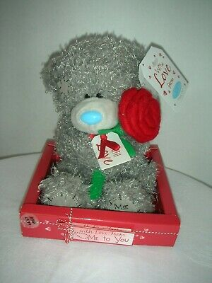 """Me To You Tatty Teddy """"With Love"""" Bear & Red Rose. Mothers Day - Special Person"""
