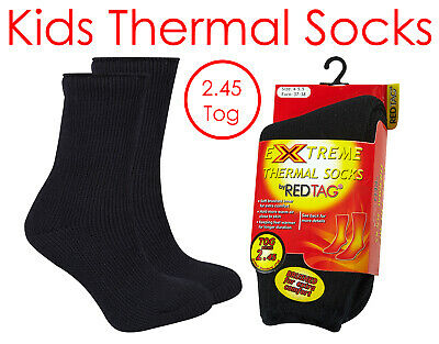 RED TAG Childrens Kids Girls Extreme Thermal Socks Striped W// Grippers TOG 2.45
