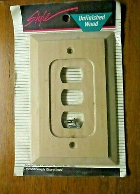 American Tack Hardware 180XXX Wood Unfinished Despard 3 Switch Wall Plate Cover