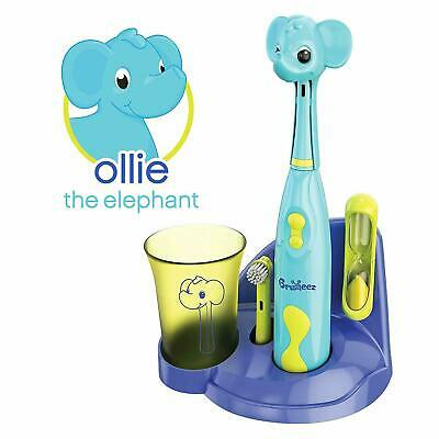 Brusheez Kids Electric Battery Powered Toothbrush Set - Ollie the Elephant
