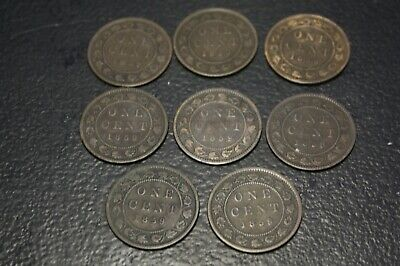 Lot of 8 Canada Large Cent 1859