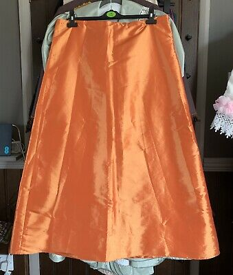 Steampunk Victorian Style Skirt Size 16/18 Orange Fancy Dress