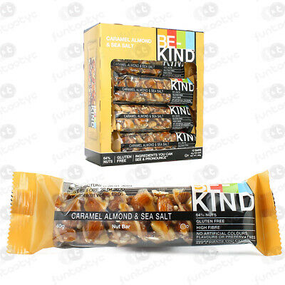 Barritas Be Kind Caramel Almond Sea Salt Estuche 12 Barritas De 40 Grs