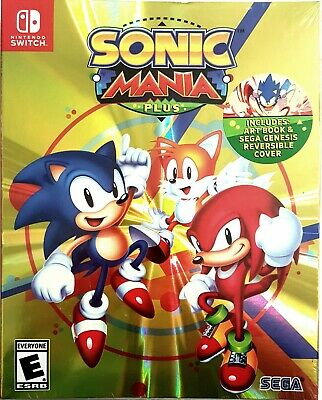 SONIC MANIA PLUS LAUNCH EDITION with ART BOOK & REVERSIBLE COVER NINTENDO SWITCH