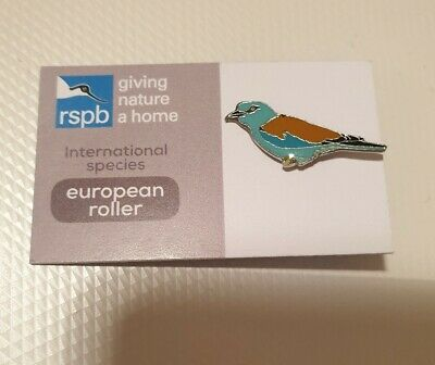 RSPB Pin Badge International Special Series European Roller GNAH Bird