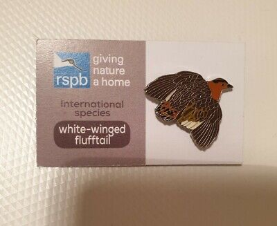 RSPB Pin Badge International Special Series White-Winged Flufftail GNAH Bird