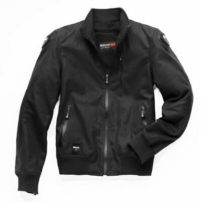 Blauer Indirect Waxed Cotton Black Motorcycle Jacket *FREE UK DELIVERY*