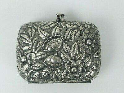 VINTAGE STERLING SILVER SOAP DISH REPOUSEE ref1316 PURSE