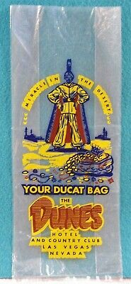 "Vintage the Dunes Hotel Casino Las Vegas Nevada ""Ducat Money Bag"" RARE"
