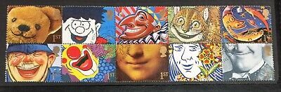 Greeting Stamps 4th Series Smilers Se-tenant Block of 10 x 1st Class V Fine Used