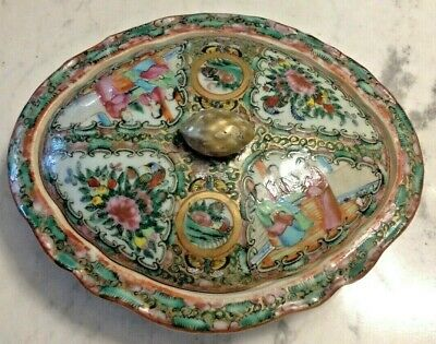 FREE SHIPPING! Antique Chinese Famille Rose Porcelain Lidded Tureen Server (3)