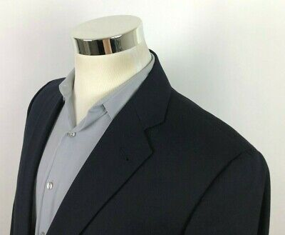 Joseph Abboud Loro Piana Mens 42R Navy Blue Sport Coat Blazer Dual Vent All Wool