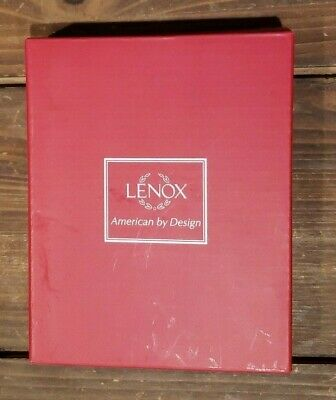 LENOX Sparkle and Scroll Clear Crystal Silverplate Ornaments New Old STock