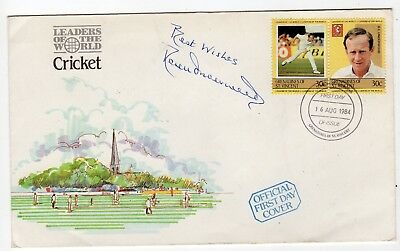 DEREK UNDERWOOD English international cricketer. Terrific signed comm. cover