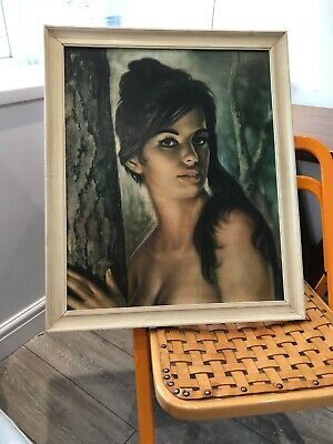 True Vintage Original Large TH Lynch 'Tina' After Tretchykof Framed Print