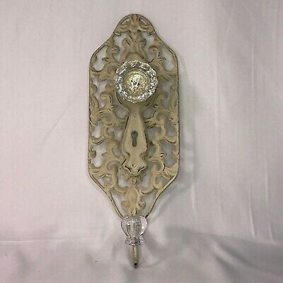 Decorative Antiqued Coat Hook Hanger Metal Home Wall Door Crystal Door Knob