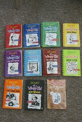 11 X Diary Of A Wimpy Kid Books