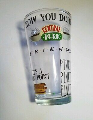 Central Perk 16oz Drinking Beer Glass Friends TV Show Coffee Shop Unique