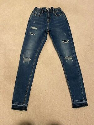 Girls River island Blue Jeans Age 12