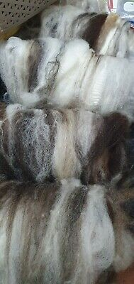 200gr Woolly Lambs Sheeps Batts Mixed Natural Colours x4 Spinning Felting Crafts