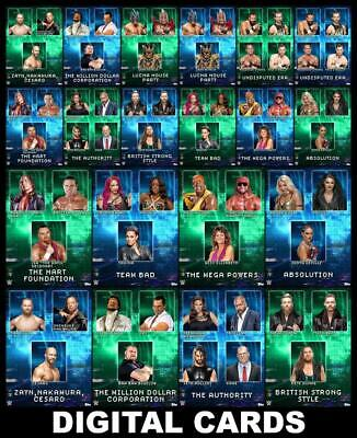Topps SLAM WWE Factions & Stables Drop 1 [20 CARD BASE/MOTION SET] Mega Powers++