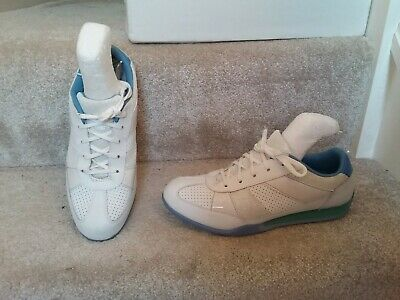 Bootleg By Clarks White Leather Glitter Trainers UK 5 F VGC