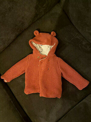 Baby Girls M&S Pink Winter Coat Age 3-6months