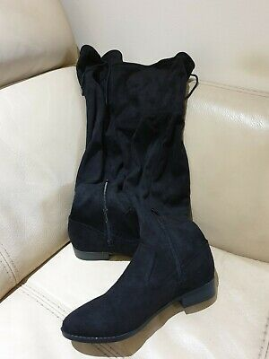 Dorothy perkins New Black Faux Suede Over The Knee Boots size 5. RRP £45