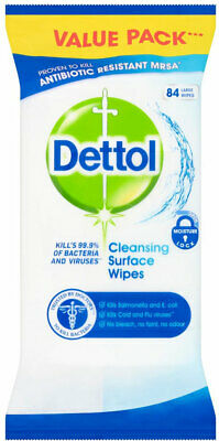 Dettol Anti-Bacterial Cleansing Surface Large Wipes