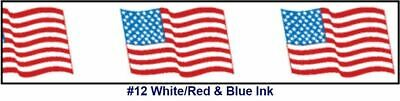 "Printed Tape ""American Flag"" 3""W x 330' - Case of 24 Rolls"