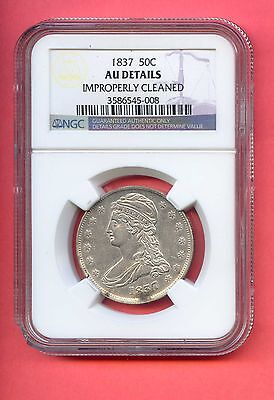 1837 50C Capped Bust Silver Half Dollar. NGC Graded AU Details. Lot #262