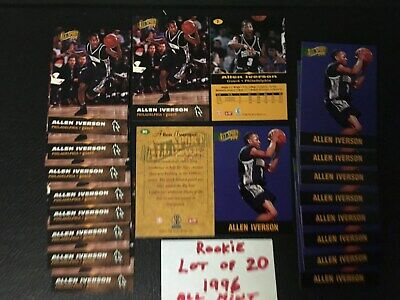 Allen Iverson Rookie 1996 All Sport PPF Lot of 20 #7 & #80 Free Shipping