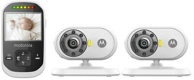 """Motorola MBP25-2 Wireless 2.4 GHz Video Baby Monitor 2.4"""" Color LCD W/ 2 Cameras"""