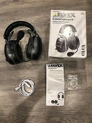 Elvex ComConnect Bluetooth Electronic Earmuffs COM-660NRW - Open Box. Clean
