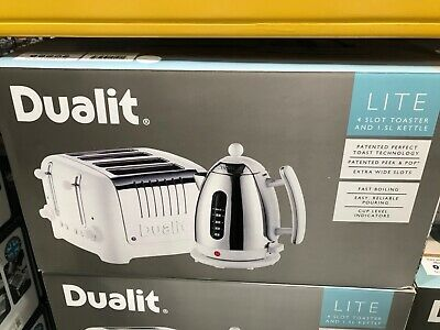 Dualit Toaster and kettle set - White