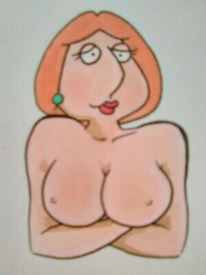 Lois Griffin PINUP CARD #5 of 9 woman COLOR print ACEO cartoon comic xxx nsfw