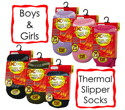 Red Tag Childrens 2.45 Tog Thermal Gripper Sock Boys Girls Warm Slipper Socks