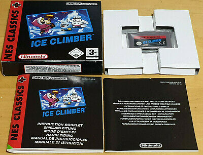 ICE CLIMBER NES CLASSICS for NINTENDO GAME BOY ADVANCE GBA COMPLETE & MINT