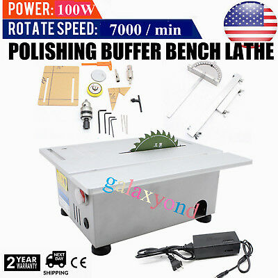 Benchtop Table Saw Cutting Polishing Carving Machine Accurate Woodworking Gem US
