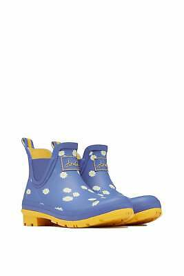 Joules Womens Wellibob Short Wellies - Blue Daisy