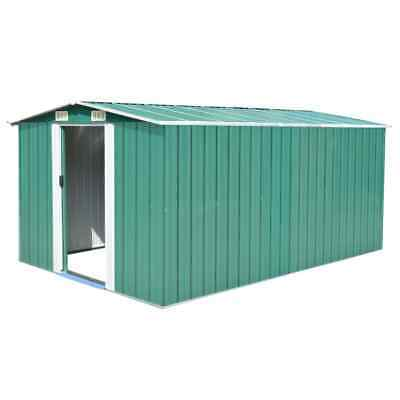 Metal Garden Shed 257x398x178cm  Large Storage Yard Store Building  Tool Box New
