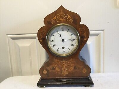 Inlaid Vintage / Antique Mantle Clock.
