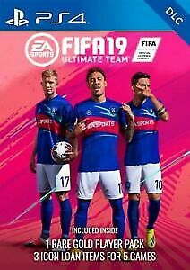Fifa 19 PS4 Ultimate Team FUT DLC 3 x ICON Loan Players & 1 x Rare Players Pack
