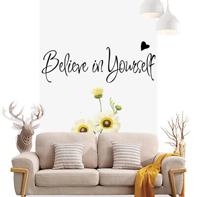 Believe in yourself Art Words Wall Stickers Decal UK    SH141