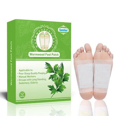 Sumifun 12Pcs Detox Foot Patch Toxins Feet Slimming Cleansing Medical Plaster PM