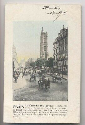 PARIS IV - 1905 - La Tour Saint Jacques - Colorisée - Animée