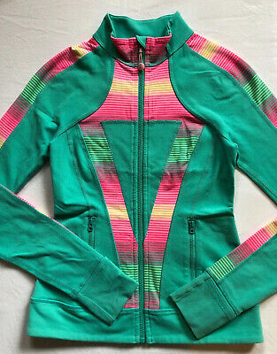 IVIVVA by Lululemon Perfect Your Practice Jacket Size 12 Teal Green Define